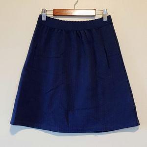 3/$25 Anthropologie postmark navy blue linen skirt